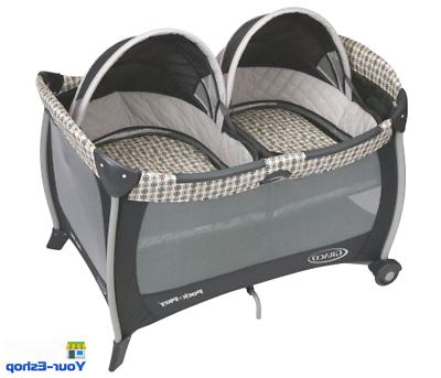 playard with twins bassinet crib portable playpen