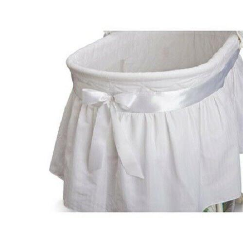 Portable Baby Bassinet Newborn Cradle White Infant Nursery