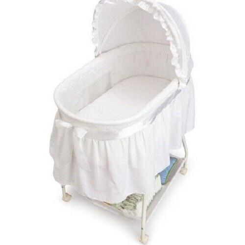 Portable Bassinet Cradle Basket Infant Nursery