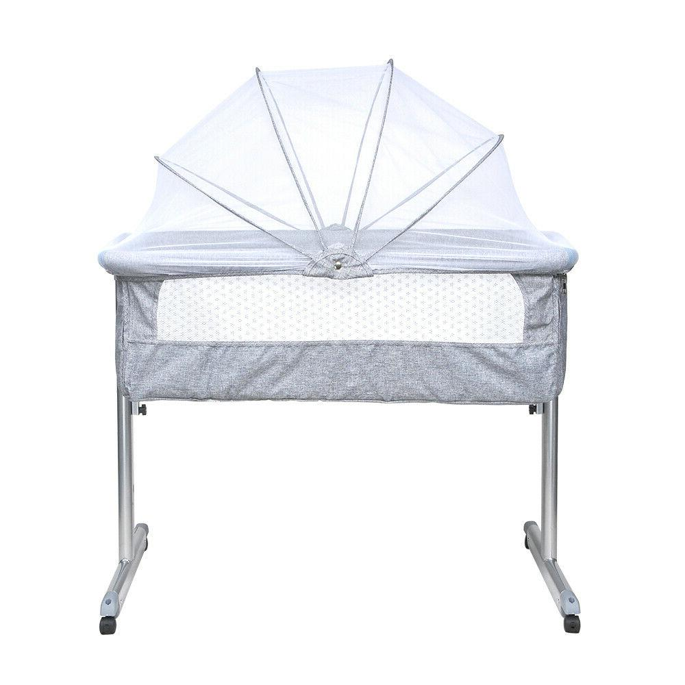 Portable Baby Side Sleeper Infant Travel Crib Bag Grey