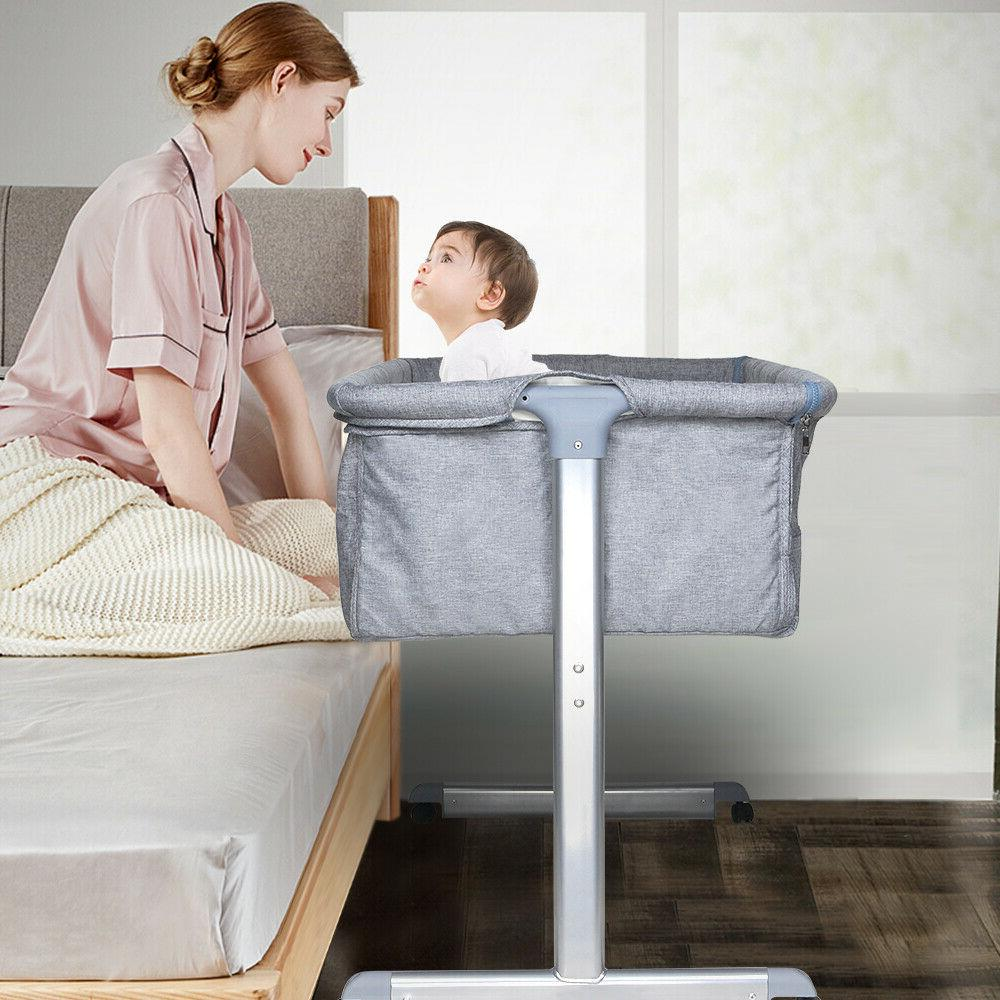 Portable Sleeper Crib Grey