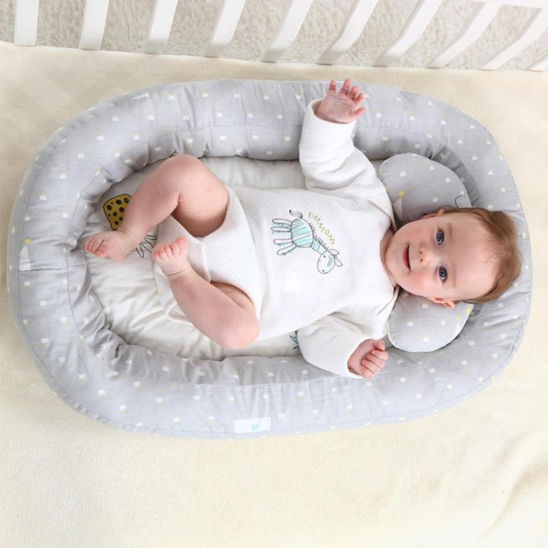 Portable Bed Removable Travel Infant Sleeping Cotton Cradle <font><b>Bassinet</b></font> Independently