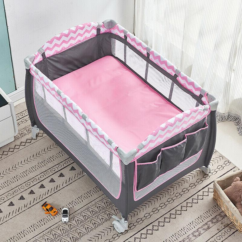 Portable Crib Bassinet Infants Mattress