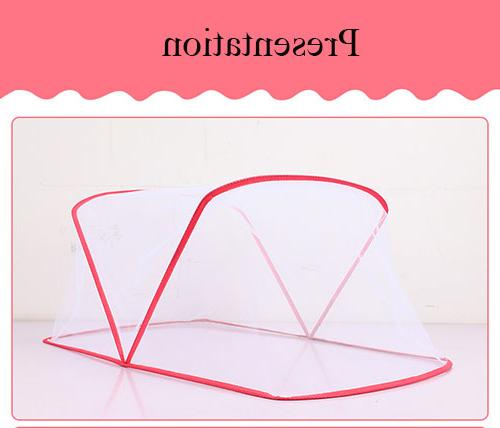 Portable Folding Baby Netting <font><b>Bedding</b></font> Nursery Furniture Newborn Bed Cot Convertible Mosquito