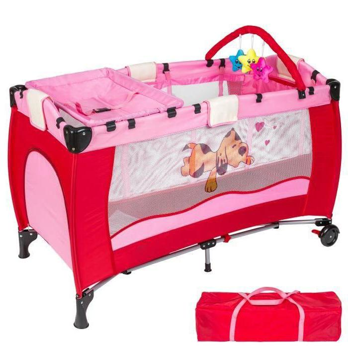 Portable folding play multifunctional cot game bed newborn baby <font><b>bassinet</b></font>