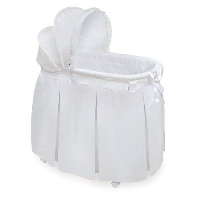 wishes oval bassinet with bedding by