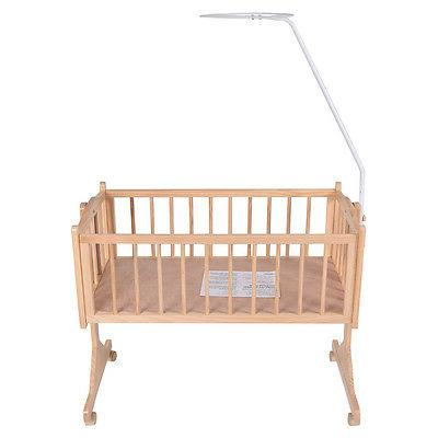 Wood Baby Crib Bassinet Sleeper Born Portable