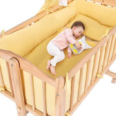 Wood Crib Sleeper Born Nursery