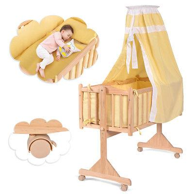 Wood Baby Cradle Crib Sleeper Born Nursery