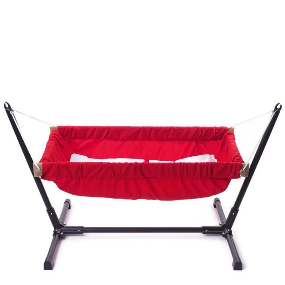 Wooden baby <font><b>bassinet</b></font> <font><b>bedding</b></font> or outdoor baby hammock metal stand