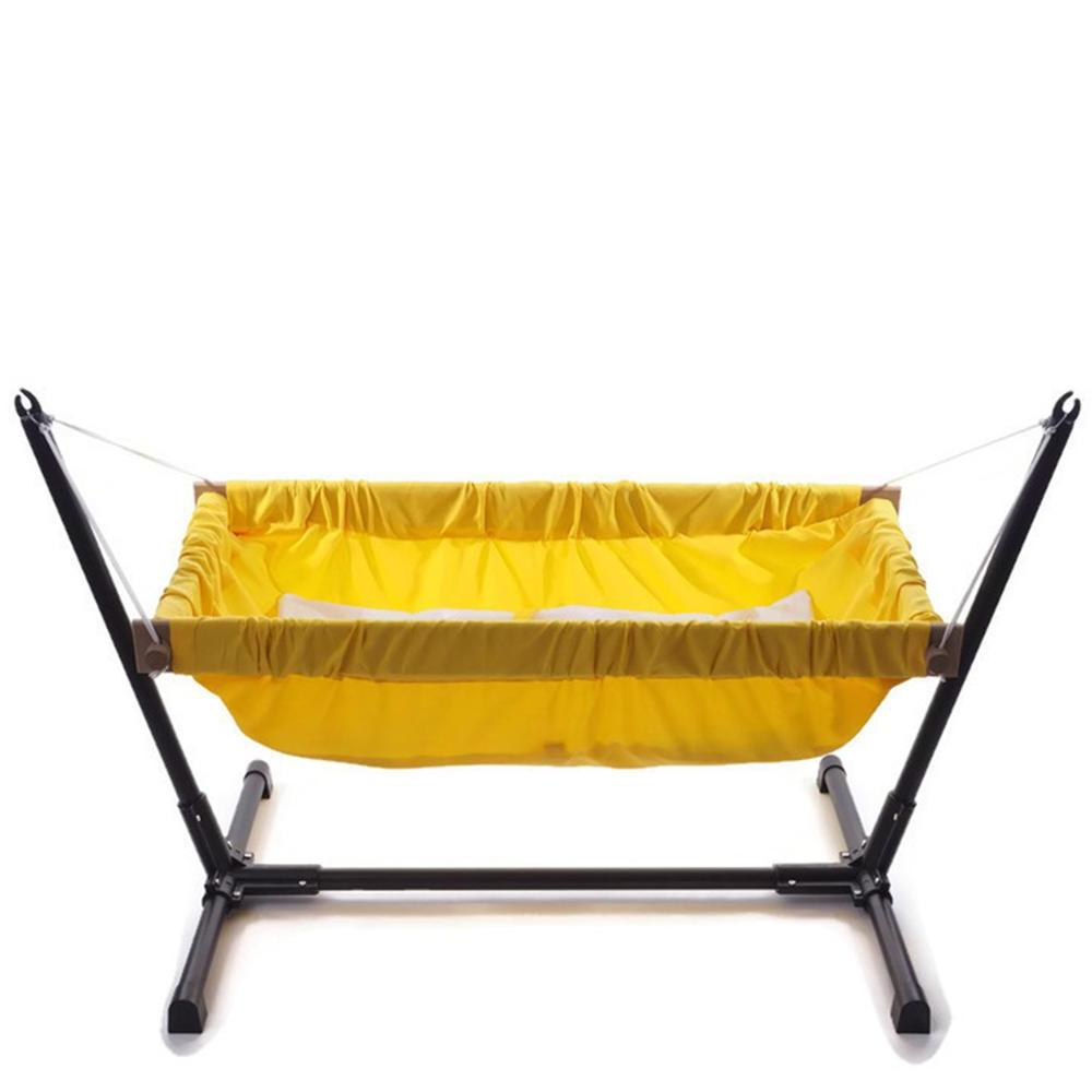 Wooden infant <font><b>bassinet</b></font> <font><b>bedding</b></font> for or baby hammock with metal stand