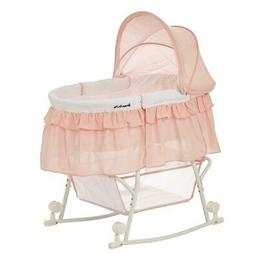 Dream On Me Lacy Baby Bassinet and Cradle 2-in-1 Portable Ro