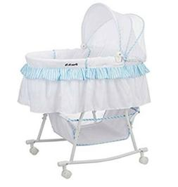 Dream On Me Lacy Portable 2 In 1 Bassinet And Cradle In Whit