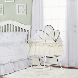Dream on Me Lacy Portable 2 in 1 Bassinet and Cradle in Crea