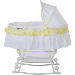 Lacy Portable 2-in-1 Bassinet And Cradle White with Yellow T