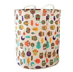 LEELI Laundry Hamper with Handles-Collapsible Canvas Basket