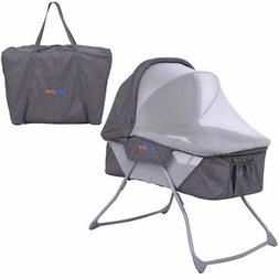 Lightweight Foldable Baby Bassinet Rocking Bed Canopy Mosqui