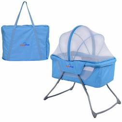 Lightweight Foldable Baby Bassinet Rocking Bed Mosquito Net