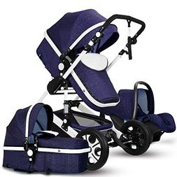 MoreChange Baby Lightweight Stroller Travel System Bassinet