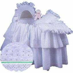 aBaby Little Angel Bassinet Skirt, Mint, Large