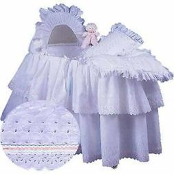 aBaby Little Angel Bassinet Skirt, Pink, Large