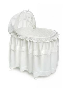 Badger Basket Long Skirt Portable Bassinet 'N Cradle with To