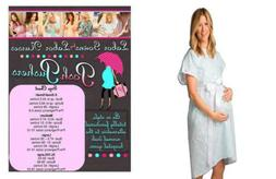 Posh Pushers Maternity Hospital Gown - Pretty Designer Labor
