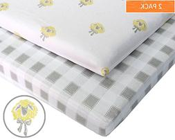 Pack N Play 100% Jersey Cotton Crib Sheets  Baby Boy and Bab