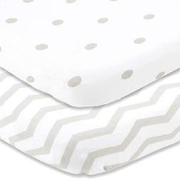 Cuddly Cubs Pack n Play Sheets | 2 Pack Playard Sheet for Ba