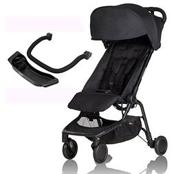 Mountain Buggy Nano 2 Stroller - Black with Nano Grab Bar an