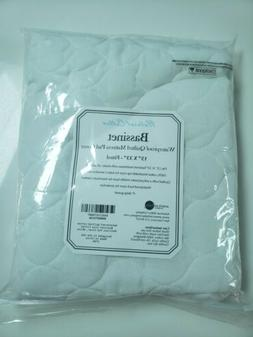 """Natural Cotton Bassinet Mattress Pad Cover 15""""×33"""" Fitted S"""