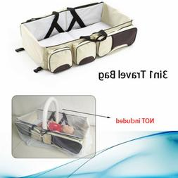 New Baby Travel Changing Station Baby Crib Diaper Bag Bassin