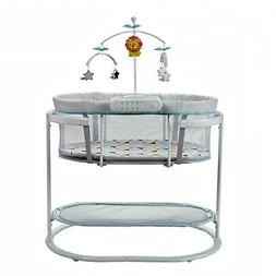 New Soothing Motions Infant Bassinet with Dual-Mode Lighting