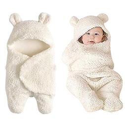 Yezijin Newborn Baby Cute Cotton Receiving White Sleeping Bl