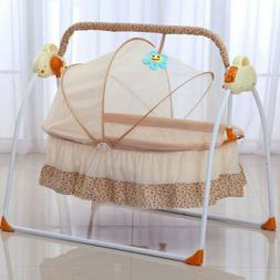 Newborn Bassinet Infant Cradle Electric Auto-Swing Big Bed i