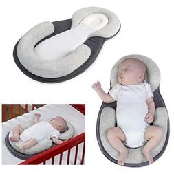 Newborn Mattress Baby Bed Crib Portable Sleep Pillow Breatha