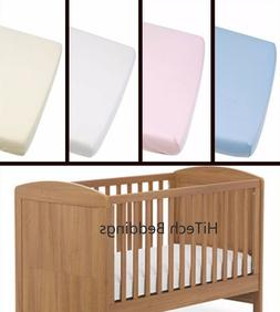 Nursery Kids Cot Bed / Toddler Bed Fitted Sheet Moses Basket