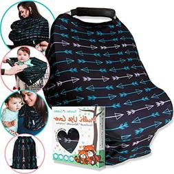 Carseat Canopy Nursing Cover for Breastfeeding - Soft Stretc