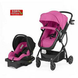 Pink Baby Stroller Car Seat 3in1 Travel System Infant Buggy