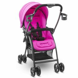 Pink Baby Stroller Deluxe Bassinet-Like Seats Girls Baby Inf