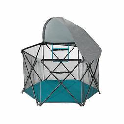 Evenflo Play Away Indoor and Outdoor Playard with Canopy, Ce