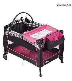 Play Yard Baby Playpen Playard Bassinet Girl Crib Travel Inf