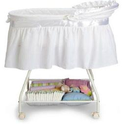 portable baby bassinet newborn cradle white moses