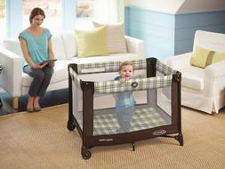 Portable Baby Crib With Wheels Playpen Playard Infant Toddle