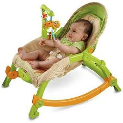 Portable Baby Rocker Toddler Seat 2 in 1 Bassinet Cradle Cha