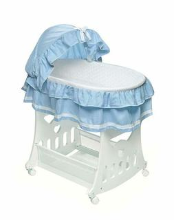 portable bassinet and cradle with toy box