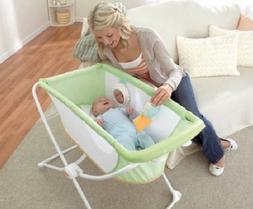 Portable Bassinet Cradle Sleeper Newborn Crib Folding Bed Ro