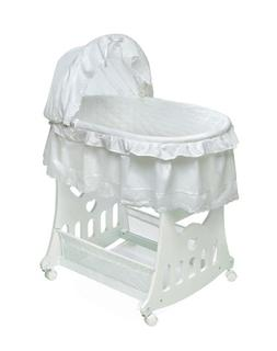 Badger Basket Company Portable Bassinet 'N Cradle with Toybo