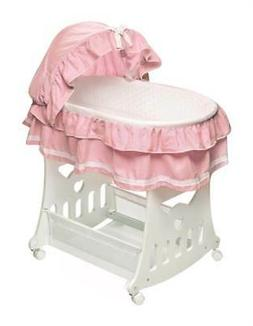 Badger Basket Portable Bassinet N Cradle with Toybox Base, P