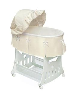Badger Basket Portable Bassinet n Cradle with Toybox Base, E
